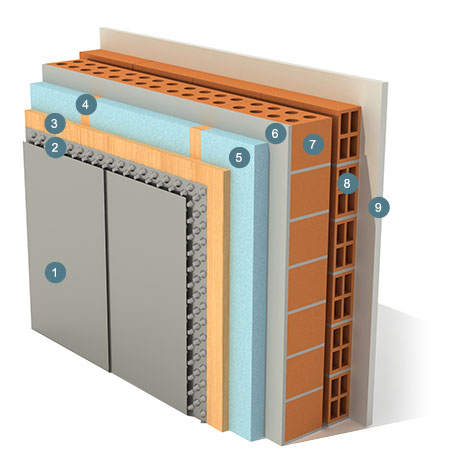 Memoria calidades valnera residencial onso a creamos for Revestimiento exterior zinc